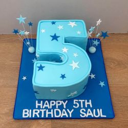 Number and Stars Cake