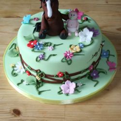 A Horsey Baby Shower Cake