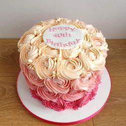 Buttercream Rose Message 3 Layer Cake