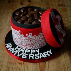 Chocolate Box Anniversary Cake