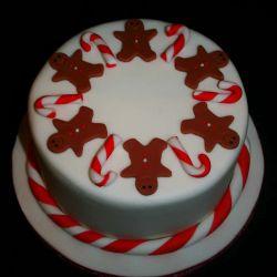 Christmas Gingerbread Men Cake. 20-25 portions. £45