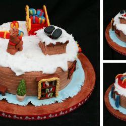 Christmas Living Room Cake