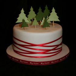 Christmas Trees Cake