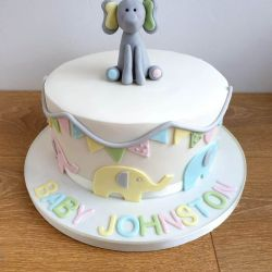 Elephant Single Tier Cake