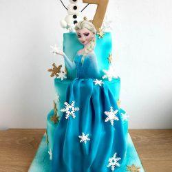 Elsa's Dress Cake