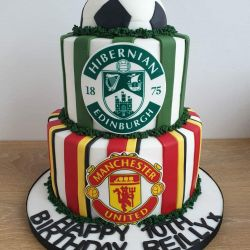 Football Team 2 Tier Cake