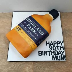 Whiskey Bottle Cake
