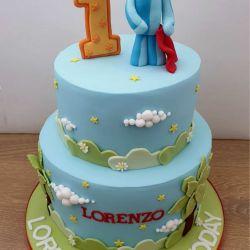 Igglepiggle 2 Tier Cake