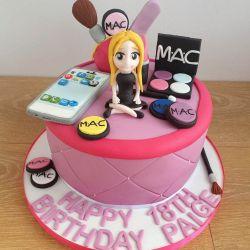 Makeup and Iphone Cake