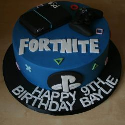 PS4 Fortnite Cake