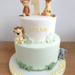 Pastel Safari Cake