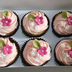 Pink Flower Cupcakes. £2 each