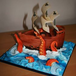Pirate Ship Cake. 18-22 portions. £70