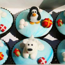 Polar Bear and Penguin Cupcakes. £2 each