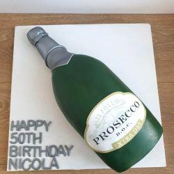 Prosecco Bottle Cake