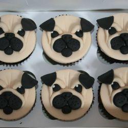 Pug Cupcakes. £2 each