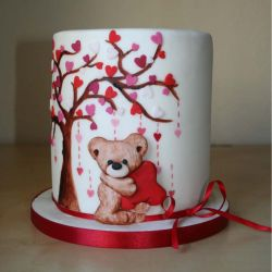 Valentines 3 Layer Bear Cake