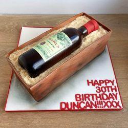 Wine Bottle and Box Cake