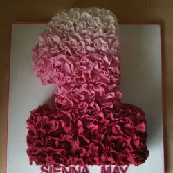 Frilly Number Cake