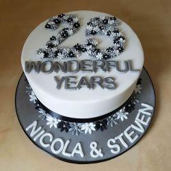 Silver Anniverary Cake