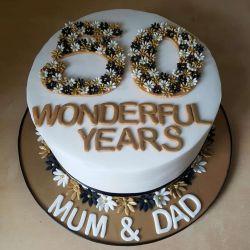 Gold Anniversary Cake